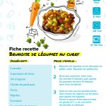 Brunoise de légumes au curry